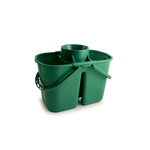 Green Duo Professional Double Mop Bucket with Dirty Water Compartment