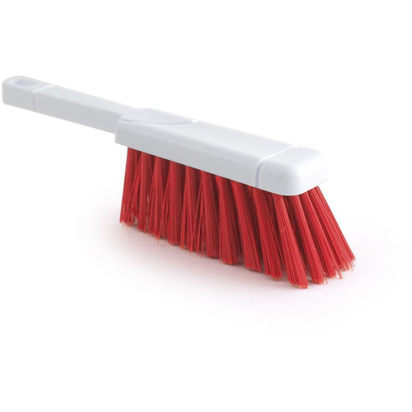 Red Colour Coded Hand Brush Stiff Banister Hygiene Brush - The Dustpan and Brush Store