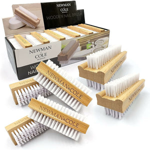 Newman and Cole Wooden Nail Brush - Set of 6