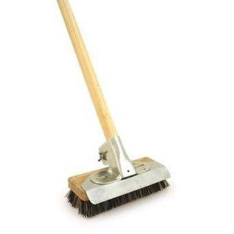 Super Heavy Duty Deck Scrub Metal Scraper Weeding Brush for Decking Paving Patio - The Dustpan and Brush Store