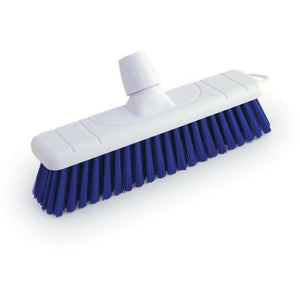 "Blue 12"" 300mm Stiff Colour Coded Food Hygiene Brush Sweeping Broom Head Only"