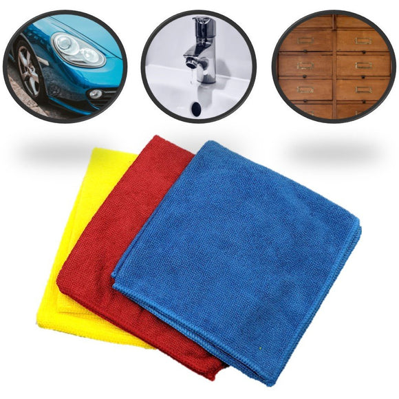 3pk Large Microfibre Cloths Soft Cleaning Duster Cloth Absorbent Drying Towel