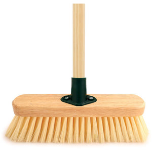 "11"" Soft Cream Sweeping Brush Synthetic Indoor Broom with Handle"