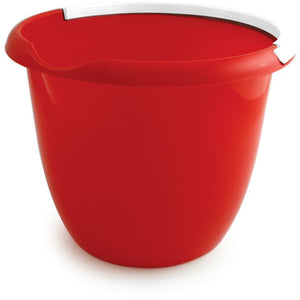 Red Colour Coded Food Hygiene Plastic 10L Bucket and Handle - The Dustpan and Brush Store