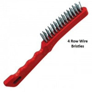 Heavy Duty Wire Brush Plastic Body 4 Row of Bristles - The Dustpan and Brush Store
