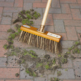 "Harris Groundsman 13"" Bass/Cane Broom Head and Handle - The Dustpan and Brush Store"