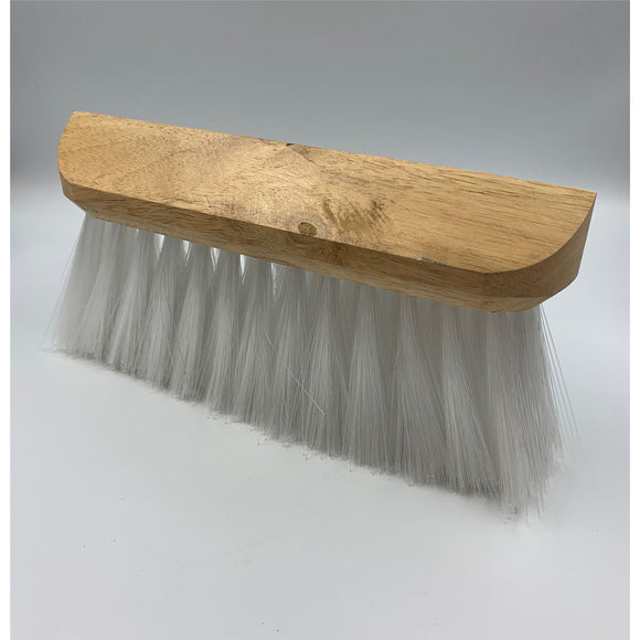 Universal Wooden Gutter Lawn Sweeper Brush Broom Wood Head with Synthetic Bristles - The Dustpan and Brush Store
