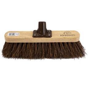 "Newman and Cole 12"" Natural Bassine Broom Head with Plastic Socket - The Dustpan and Brush Store"