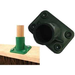 "Plastic Socket for Large Brushes and Brooms Replacement Bracket 1 1/8"" Shaft"