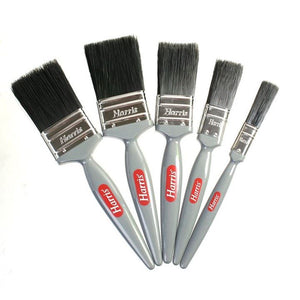 Harris Paint Brush Set 5 Piece Gloss Decorating Paint Brushes Painting Pack - The Dustpan and Brush Store