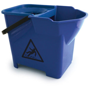 Blue Expert Strong Colour Coded Food Hygiene Plastic Floor Mop Bucket