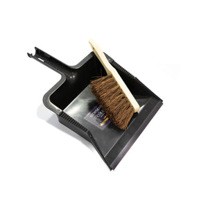 Newman and Cole Large Garden Dustpan and Brush Set - Outdoor Dust Pan Scoop with Stiff Hand Brush - The Dustpan and Brush Store