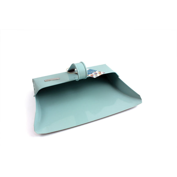 Blue Metal Dustpan Duck Egg Blue Metal Hooded Traditional Dust Pan - The Dustpan and Brush Store