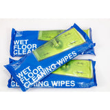 Wet Floor Cleaning Wipes 3 Pack Bundle (Total 60 Cloth Wipes) Fit Most Flat Swivel Floor Mops 21cm x 29cm - Ideal on Laminate Tile Hard Wood Gloss Flooring etc - The Dustpan and Brush Store