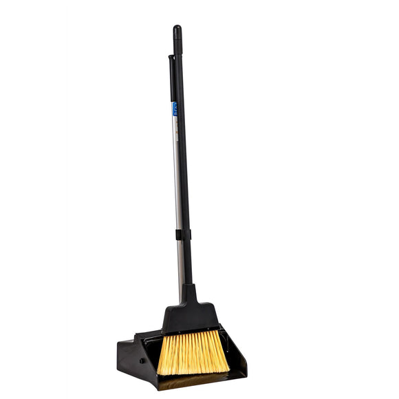 Strong Trade Dust Pan Long Handled Dustpan and Brush Set with Stiff Bristle Broom - The Dustpan and Brush Store