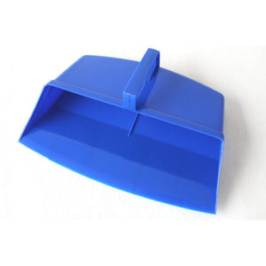 Blue Colour Coded Food Hygiene Hooded Dustpan Plastic Dust Pan - The Dustpan and Brush Store