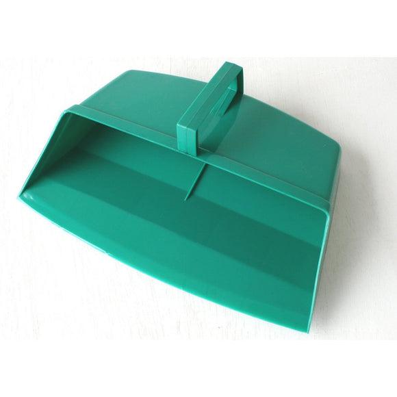 Green Colour Coded Food Hygiene Hooded Dustpan Plastic Dust Pan