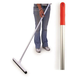 "Red 18"" Floor Squeegee Colour Coded Food Hygiene Floor Scraper Cleaner and Handle - The Dustpan and Brush Store"