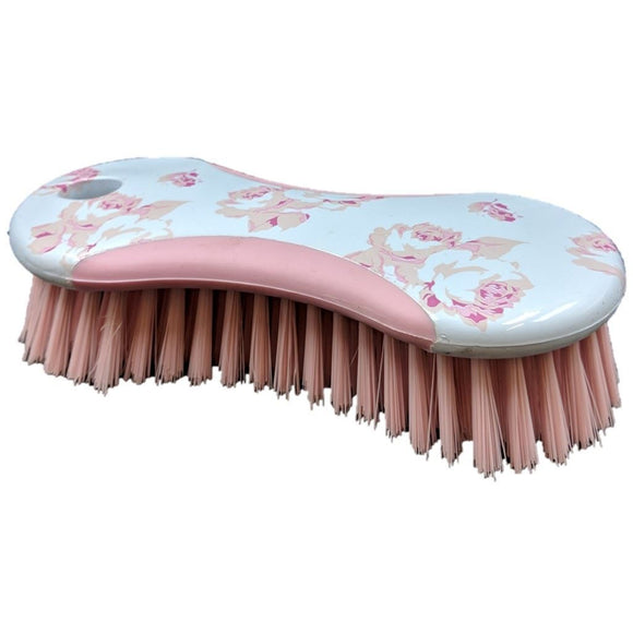 Rose Pattern Hand Srubbing Brush - The Dustpan and Brush Store