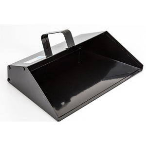 Strong Trade Metal Dustpan Thick Gauge Heavy Duty 350mm Black Dust Pan