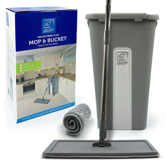 Magic Wash & Dry Flat Mop and Bucket Set