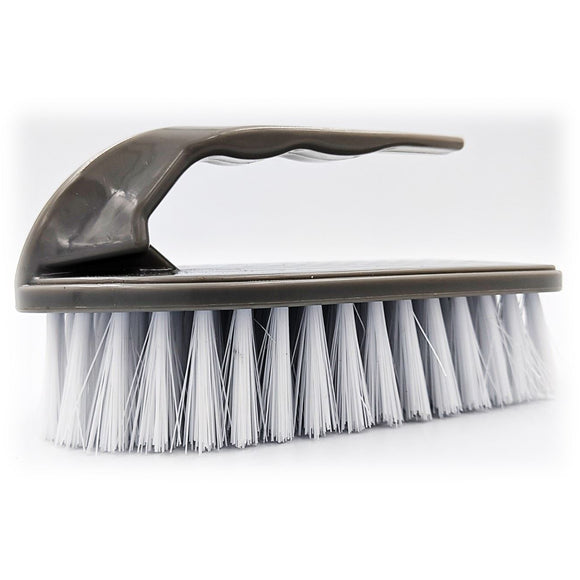 Iron Floor Scrubbing Brush with Stiff Nylon Bristles