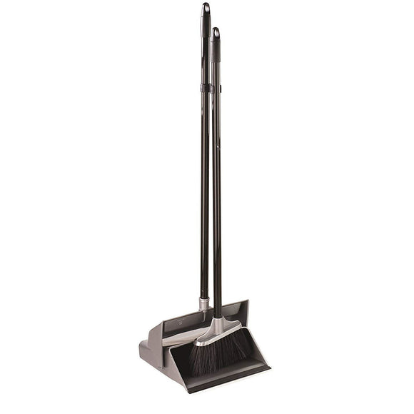 Elliott Lobby Long Handled Dustpan & Brush with Self-Closing Lid - The Dustpan and Brush Store