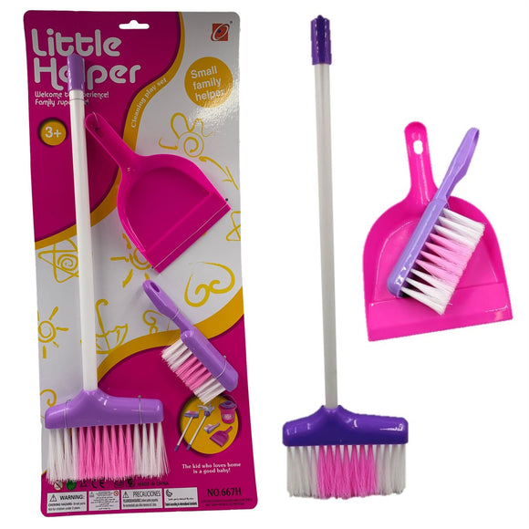 Childs Cleaning Set - Broom, Dustpan & Brush