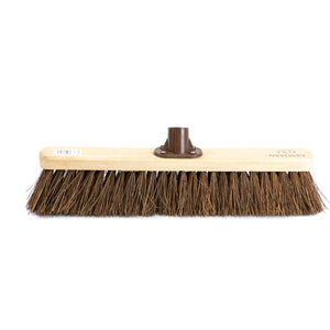 "Newman and Cole 18"" Natural Bassine Broom Head with Plastic Bracket - The Dustpan and Brush Store"