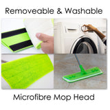 Laminate Floor Mop with Washable Microfibre Removable Cleaning Pad for Cleaner Wood Tile Hardwood and Laminate Flooring - The Dustpan and Brush Store