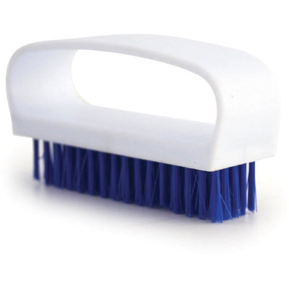 Blue Nail Brush Colour Coded Food Hygiene Hand Cleaning Nail Scrubbing Brush - The Dustpan and Brush Store