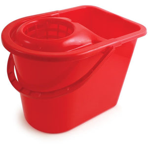 Red Entry Level Colour Coded Food Hygiene Plastic Floor Mop Bucket