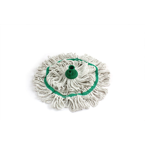 Green 350mm Looped Pure Yarn Cotton Mop with Loop Food Hygiene Colour Coded