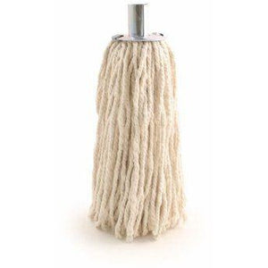 Heavy Duty Industrial Commercial 10 PY Cotton Mop Head Galvanised Metal Socket - The Dustpan and Brush Store