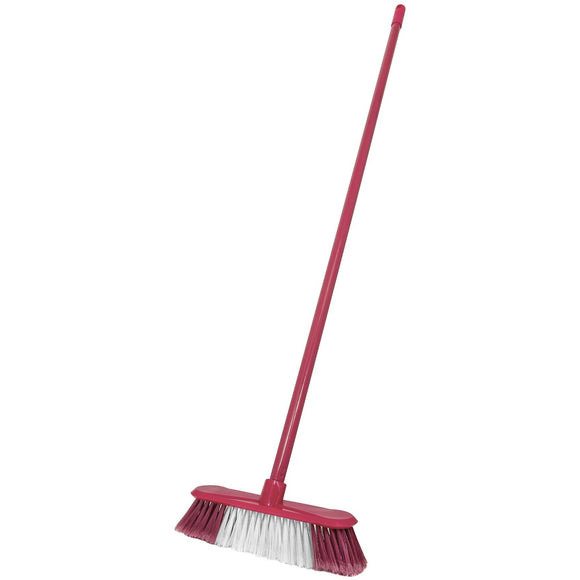 Pink Indoor Soft Kitchen Sweeping Broom Brush Floor Sweeper with Handle