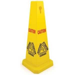 Wet Floor Caution Cone Sign Yellow Warning Danger Hazard Board - The Dustpan and Brush Store