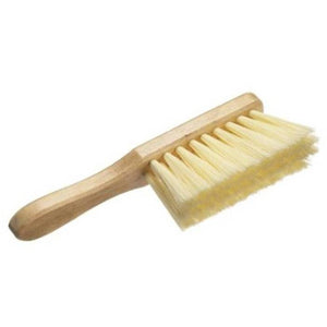 Varnished Hand Banister Brush with Soft Cream Synthetic Bristles