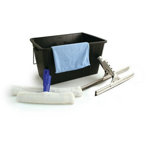 Professional Window Cleaning Equipment Set Washing Cloth Squeegee Bucket Sponge - The Dustpan and Brush Store