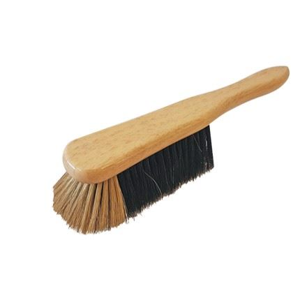 Varnished Plain Pure Natural Real Bristle Hair Soft Banister Hand Brush - The Dustpan and Brush Store