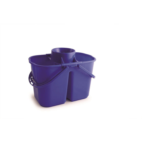 Blue Duo Professional Double Mop Bucket with Dirty Water Compartment - The Dustpan and Brush Store