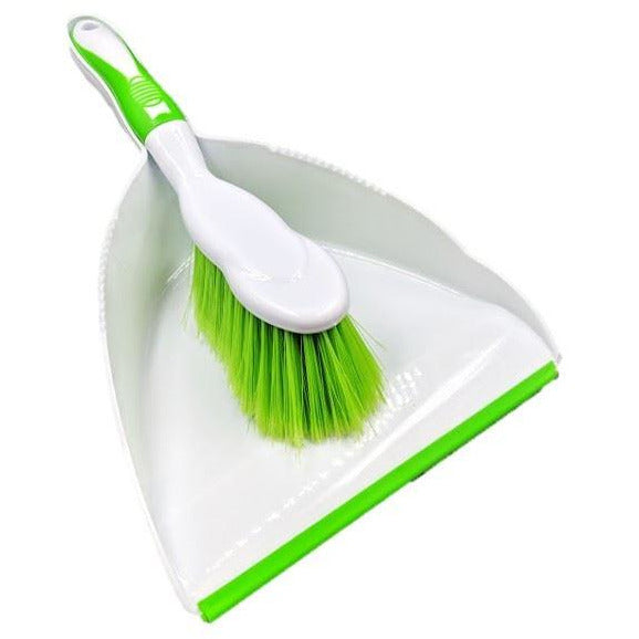 TDBS Deluxe Dustpan and Brush Set Green