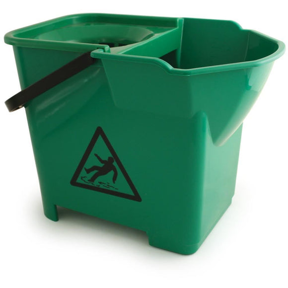Green Expert Strong Colour Coded Food Hygiene Plastic Floor Mop Bucket - The Dustpan and Brush Store