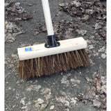"13"" Bass/Cane Stiff Hard Outdoor Yard Brush with Bracket and Handle"