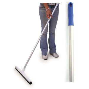 "Blue 18"" Floor Squeegee Colour Coded Food Hygiene Floor Scraper Cleaner and Handle"