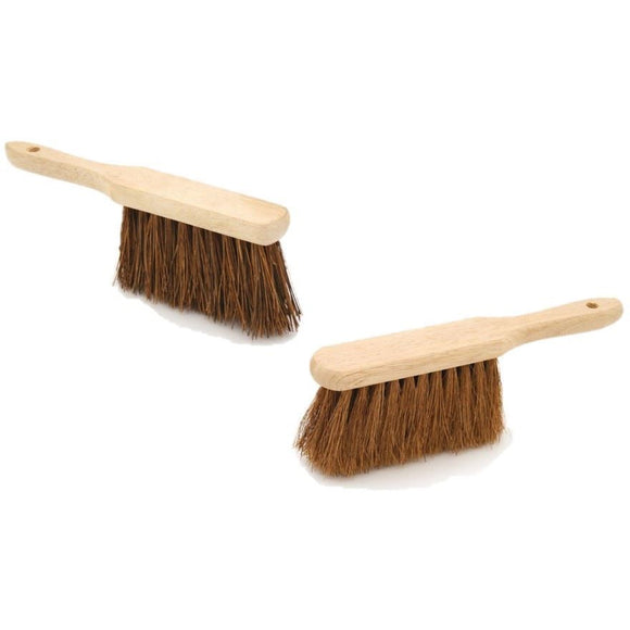 Hand Brush Deal - Budget Soft Coco and Budget Stiff Bassine - The Dustpan and Brush Store
