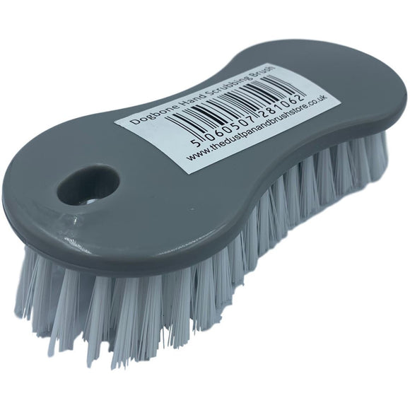 Silver / Grey Plastic Hand Scrubbing Scrub Brush - The Dustpan and Brush Store