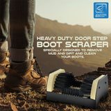 Heavy Duty Door Step Boot Scraper Brush Cleaner Mat - Removes Mud and Dirt from Shoes Walking Boots Wellys / Wellingtons etc