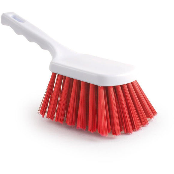 Red Stiff Churn Brush Colour Coded Hygiene Pot Scrub Brush - The Dustpan and Brush Store