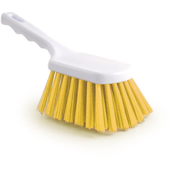 Yellow Stiff Churn Brush Colour Coded Hygiene Pot Scrub Brush - The Dustpan and Brush Store