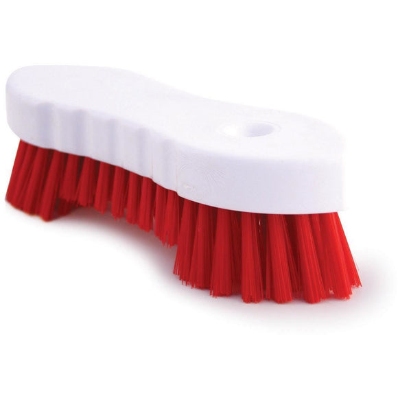 Red Scrubbing Brush Food Hygiene Stiff Double Winged Floor Scrub Hand Deck Brush